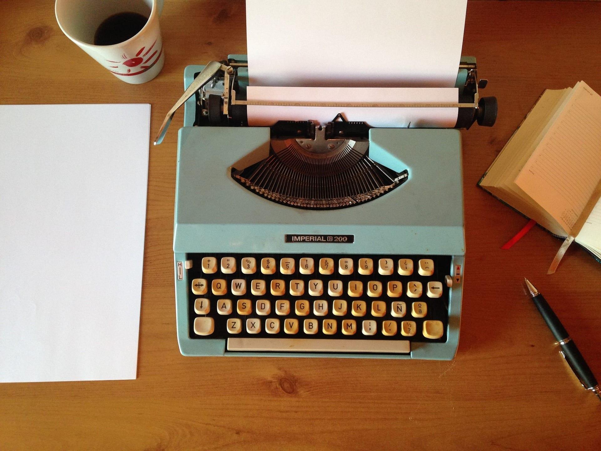 schrijven typemachine