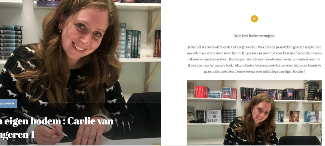 Auteur van eigen bodem bij @Bookstamel in oktober