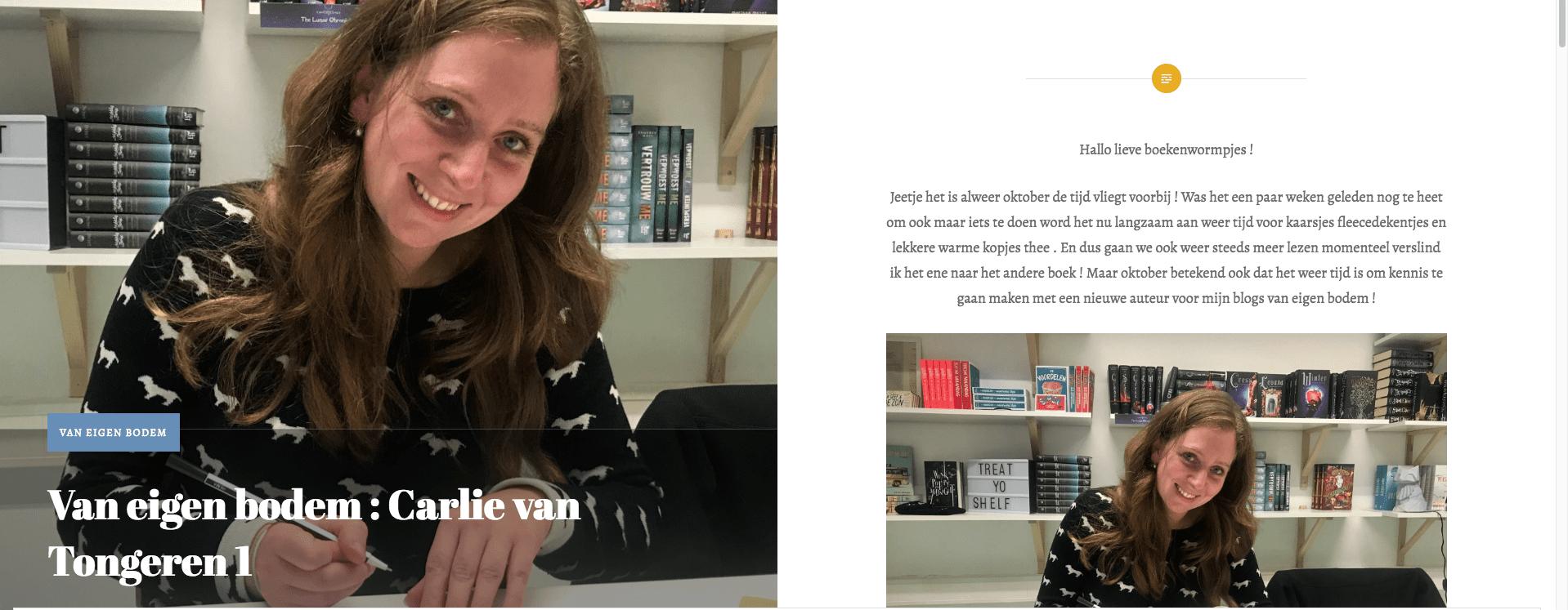 Carlie van Tongeren is auteur van eigen bodem bij Bookstamel
