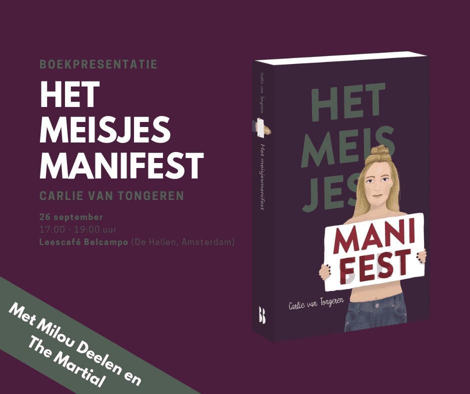 boekpresentatie Het meisjesmanifest Carlie van Tongeren