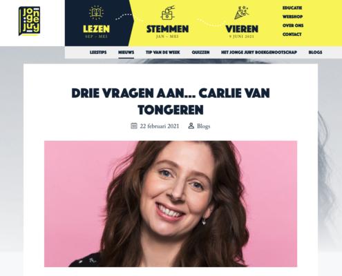 Interview Carlie van Tongeren Jonge Jury