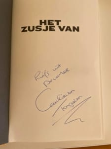 Het zusje van gesigneerd auteursexemplaar bij boekhandel Broekhuis Deventer